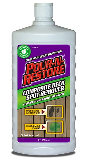 Composite deck spot remover deck stain removal composite for Garage oil stain remover